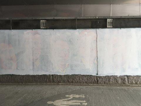 MALT HVITT: Her kommer det ny graffiti i løpet av helga.