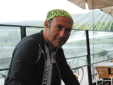 SYKLIST: Lege Waleed Alani har reist fra Libanon til Norge for å delta på sykkelturen