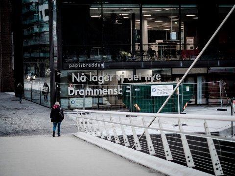 NY KAFÉ: Rundt påske skal den nye kaffebaren på Drammensbiblioteket åpne.