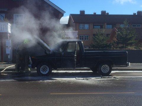 Brannvesenet var raskt framme på stedet.