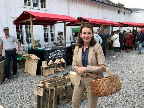 Prosjektleder ved Museet Ida Margrethe Klingvall var fornøyd med boder og aktiviteter under fjorårets hagedag.