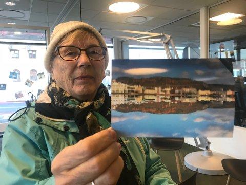 SE HER: Marit Endrestøl (80) troppet opp hos DT med et helt spesielt bilde fredag.