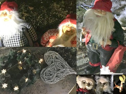 Her er noen flere eksempler på den stjålne julepynten som ble funnet hjemme hos manne.