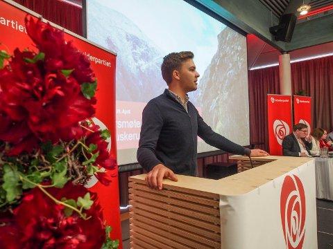 VANT KAMPEN: Bendik Thun, fylkesleder i AUF, fikk med seg fylkesårsmøtet i moderpartiet på et viktig vedtak.