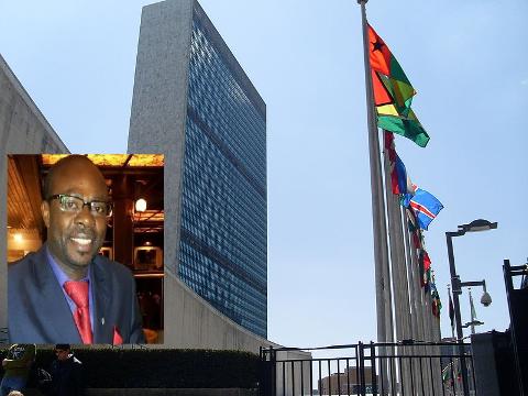 SKAL JOBBE FOR FN: Batu Kajigi (36) fra Drammen skal jobbe som Stabilization officer for FN.