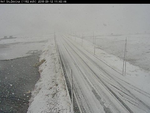 VINTERFØRE: Dette bildet er tatt på rv7ved Skulevika på Hardangervidda, 1182 meter over havet.
