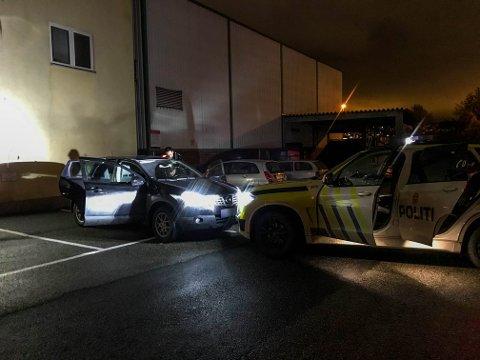 Bilen ble observert av en patrulje i Strømsø-området.