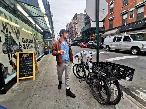 Rolf Arne Leer (40) møtte Drammens Tidende i New York i november. På dette tidspunktet hadde han fått virkelig sving på business-eventyret i storbyen, men koronaviruset gjør situasjonen kritisk.