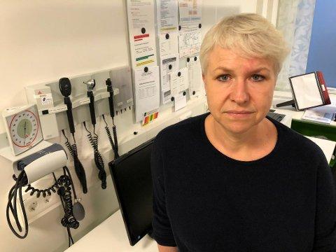FORTVILER: Liv Heidi Brattås Remo, daglig leder ved Legevakta i Drammen, er oppgitt over folk som besøker legevakta unødvendig.