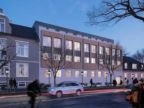 INSPIRERT AV UTLANDET: Megleren i prosjektet kaller rekkehusene «town houses», villaliknende bygninger som er vanlig i sentrum i mange europeiske storbyer.