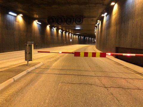 STENGT: Bragernestunnelen er stengt inntil videre.
