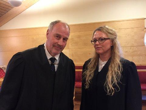 Oscar Ihlebæk er forsvarer for den 51 år gamle mannen. Aktor politiadvokat Sandra Mathisen Andreassen.