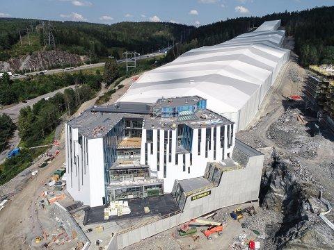 INNOVATIVT: Det 50.000 kvadratmeter store prosjektet  SNØ omtales som ett av de mest innovative kommersielle prosjektene som er blitt gjort i Norge noensinne. Fasadearbeidene er utført av Lier-selskapet Eiqon.