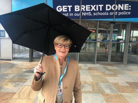 EKSKLUSIV: Kristin Ørmen Johnsen er den eneste norske politikeren tilstede på det konservative partiets landsmøte i Storbritania.