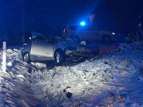 Ulykken skjedde på Krøderveien mellom Krøderen og Vikersund.