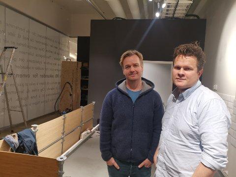 SPENTE: Her kommer disken som skal romme rundt 30 pizzatoppinger. Gründerne Hans Martin Nakkim (43) (t.v.) og Knut Hardang (43) gleder seg til å åpne Egoista Pizza.
