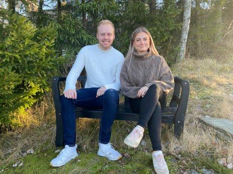 Lærerstudentene Charlotte Jensrud Skaar (25) og Christoffer Baardseth Holt (21)