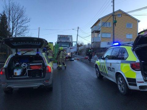 Kvinnen ble påkjørt og drept i Markusveien i Drammen 8. januar i år.
