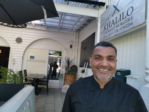 SATSER SELV: Naser Khalil (44) var kokk å Burgeriet i Mjøndalen. Nå har han åpnet egen restaurant.
