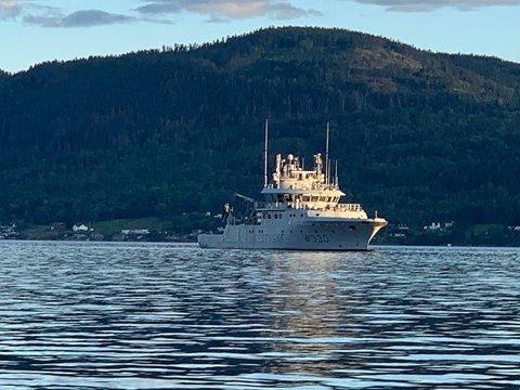 KV NORNEN: Kystvakta er observert i Drammensfjorden, men drammensere har ifølge forsvaret ingen ting å bekymre seg for.