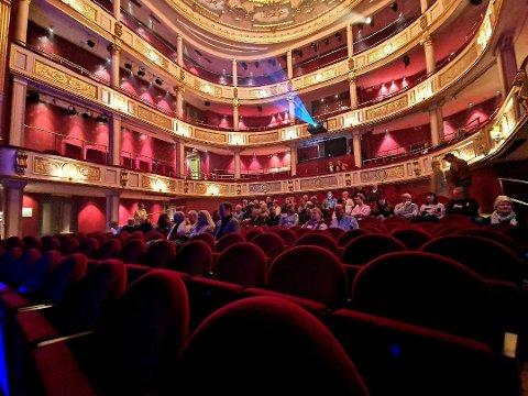 LENGE TIL: Slik så det ut da den hittil siste konserten gikk av stabelen i Drammens Teater. Datoen var 11. mars, og dagen etter skulle Norge stenge ned.  Det blir lenge til vi ser dette i teateret igjen.