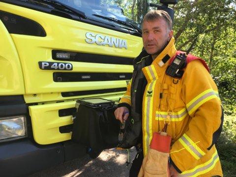 Utrykningsleder i brannvesenet, Jan Magne Helgesen.