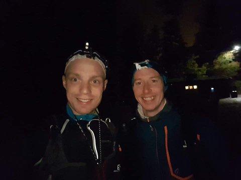 Knut Sindre Mølmen og Simen Solberg var på en rimelig lang joggetur i helga i Finnemarka.