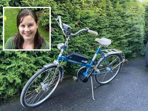 Cathrine Lies gamle DBS kombi har blitt revitalisert og får nå nytt liv som elsykkel.