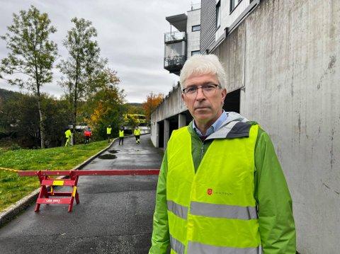 KRISESTAB: Morten Egeberg er beredskapssjef i Lier kommune. De satte torsdag krisestab for å sørge for god oppfølging av hendelsen Foto: Truls August Råen