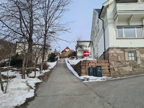 Brannpostveien er en av flere veier som syklister nå kan sykle mot enveisregulering.