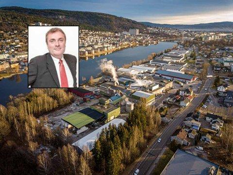 REKORDÅR: Fjoråret ble meget godt for papirfabrikken på Gulskogen. Innfelt: Mark Watkins