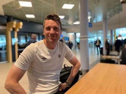 Christian Gauseth på flyplassen i Bodø.