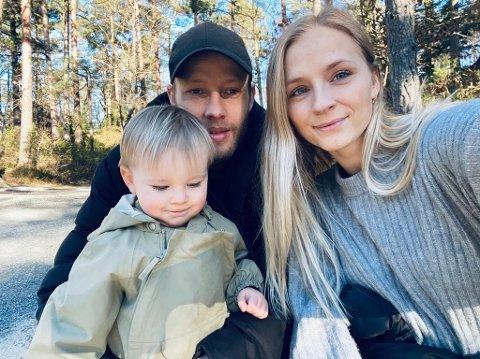 FAMILIE: Tonny Brochmann og samboeren venter sitt andre barn. Her med sønnen Ollie på to år.