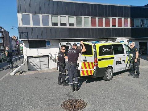 BORTVISES: Det var i 17-tiden torsdag ettermiddag at politiet ble kontaktet og bedt om å komme til Kiwi i Blichs gate.