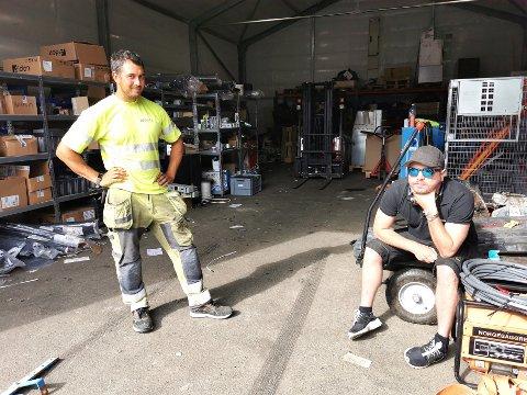 Anders Berge (t.v.) og Andreas Løbach i Oneco Elektro.