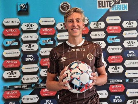 SIGNERTE: Albin Sporrong fra svenske Västerås presenteres som ny MIF-spiller.