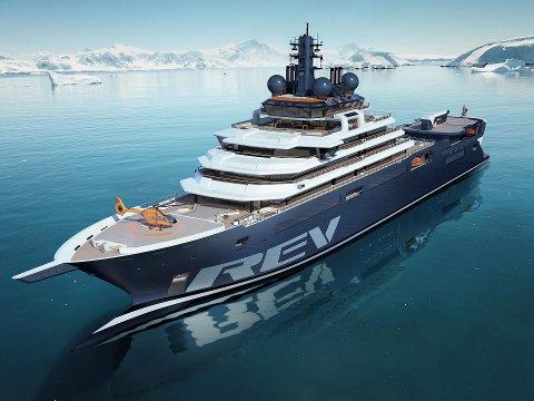 STOR AVTALE: Aclima AS, som har base i Drammen og Krøderen, har inngått en samarbeidsavtale med REV Ocean. Kjell Inge Røkke er med på å finansiere det gigantiske forsknings- og ekspedisjonsskipet.
