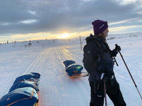 BLEFJELL: Blefjell ble brukt som treningsarena foran ekstremløpet. Astrid Røren er vant til å være ute i skog og fjell, men det 85 kilometer lange løpet blir en ny opplevelse.