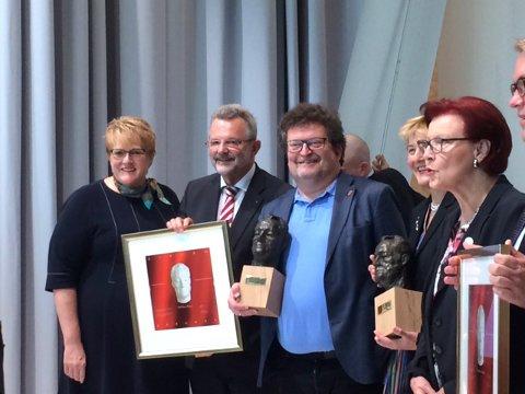 Forfatteren Erik Fosnes Hansen mottar Willy Brandt-prisen 2019.