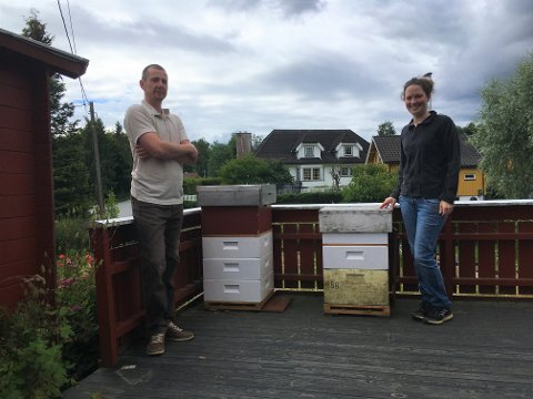 Birøkterparet: Pavol Varkonda og Leonie Eberhard produserer honning på Flateby.