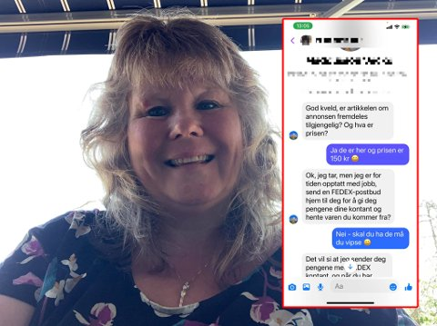 MÅ TRÅ VARSOMT: Grethe Jakobsen ble en erfaring rikere etter å ha blitt utsatt for et svindelforsøk på Facebook.