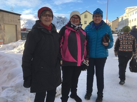 Holder årsmøte: Elisabeth Bjønnes-Hansen, Else Mari Floer og Gulle Floer håper mange kommer på Nordkapp pensjonistforenings årsmøte.