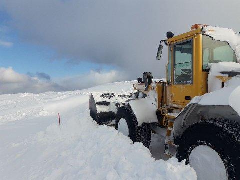 Her står Yngve: Yngve Alseth har stått på fjellet opp mot Nordkapp siden klokken 12 i går formiddag. Nå ser det ut som at han skal få komme seg ned.