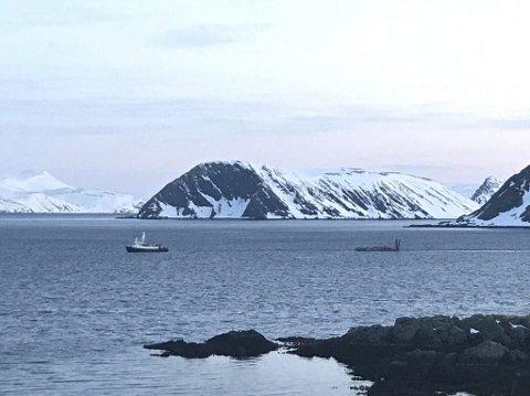 GULL: Her seiler stein fra Honningsvåg til Mehamn.