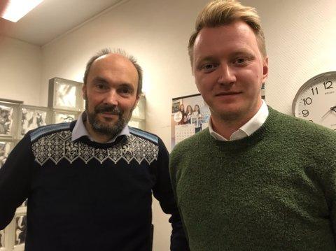 Håkon Knudsen er engasjert som pressetalsmann for Scandic i forbindelse med Nordkappsaken. Dette er Hans Paul Hansen, direktør i Scandic Nordkapp, veldig fornøyd med.