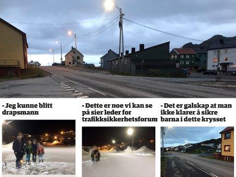 Finnmarksposten har ved flere anledninger skrevet om dette krysset i Storbukt (innfelt), Nå vil Nordkapp kommune ha en snarlig løsning på saken.