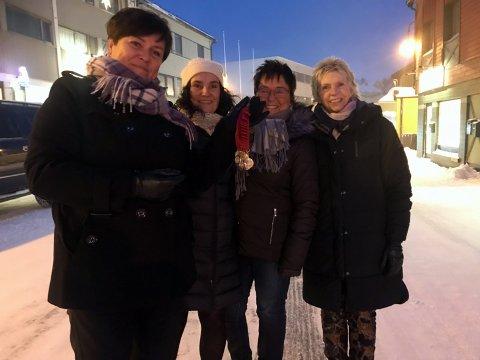 Klare for årets Romjulsmarsj: Audhild Andreassen, Anne-Trine Elde, Sigrun Ulvatne og Tove Hunnålvatn håper at mage tar seg tid til å gå marsjen i år også.