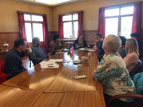Valgstyret består av formannskapet i Nordkapp kommune, og de var tilstede på rådhuset i dag.