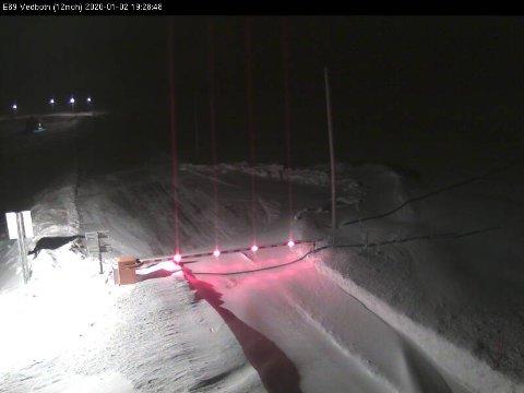 Veg kameraet i Reinelva viser at det har lagt seg en god del snø.