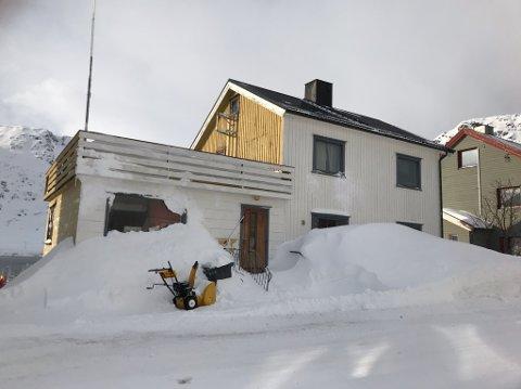 Det er snø nok. Dette bildet er tatt i Nordvågen.